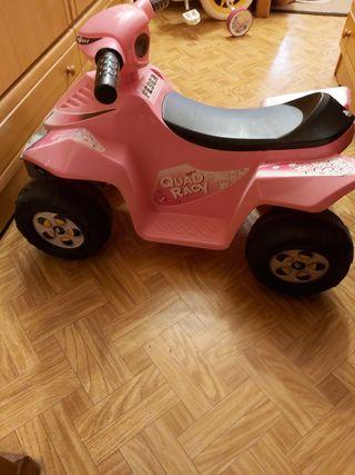 quad rosa juguete