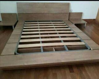 cama tatami China colchón cabecero somier mesitas