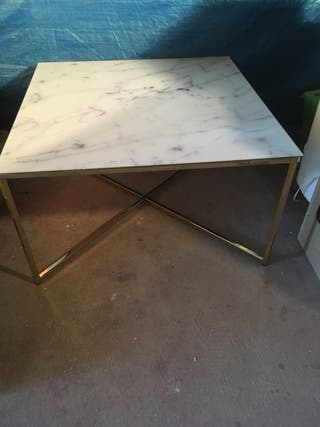 Superb Marble Glass Top Gold Coffee Table