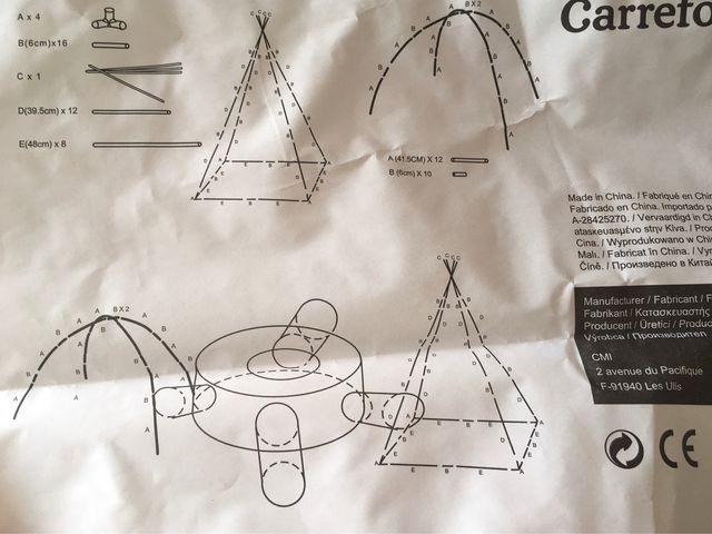 Tunel con torres para juego niños