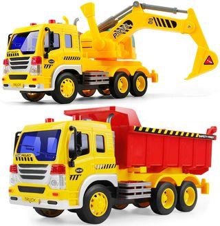 con Tractor De Excavadora,2 Piezas Juguete