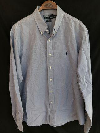 POLO RALPH LAUREN Camisa cuadritos talla 43 17.5