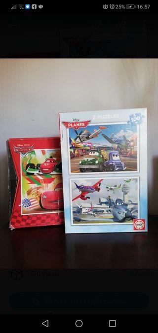 Lote de puzzles Cars y Planes