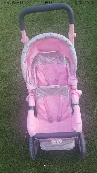 Carrito baby born gemelar