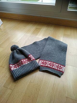 Conjunto gorra y bufanda de Nanos.