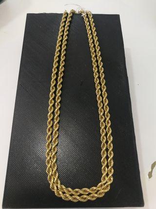 cordón oro 18 kilates