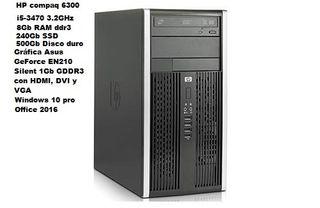 TORRE HP COMPAQ 6300 CON DISCO DURO SSD