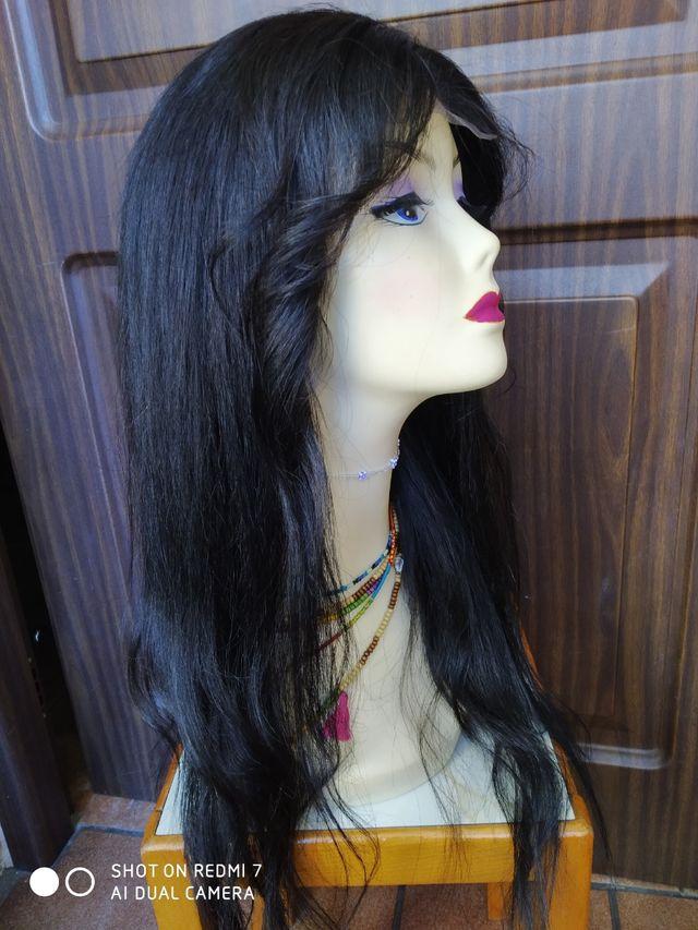 peluca de cabello natural
