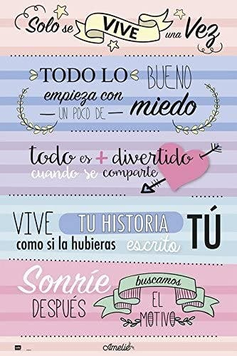 MAXI POSTER AMELIE 5 FRASES (91,5 x 61 cm)