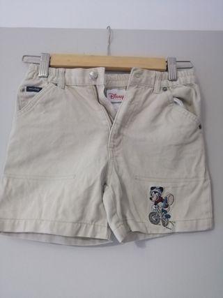 Pantalón corto beige Disney