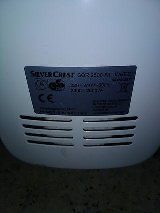 radiador eléctrico 2600w con ventilador