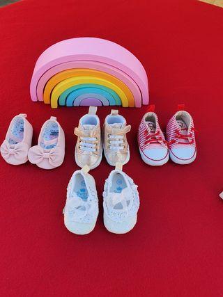 Lote de zapatos bebé 0/3 meses