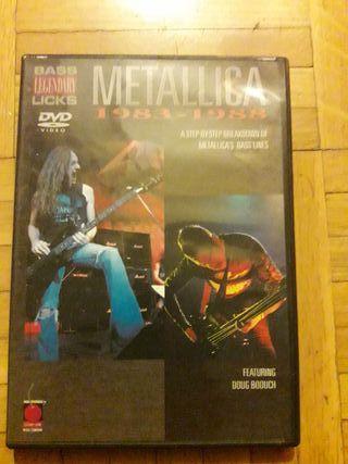 Metallica - DVD tutorial para tocar el bajo