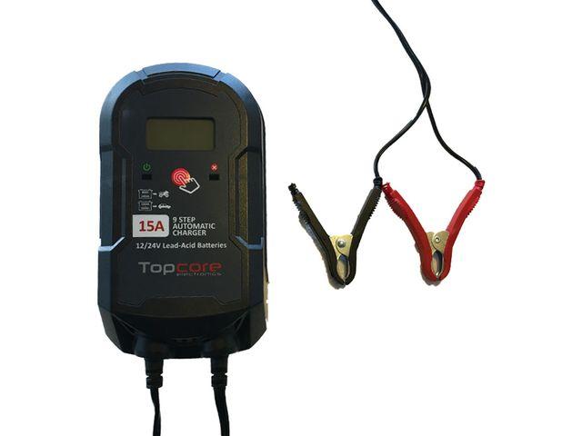 Cargador de batería 12-24V 15A Top