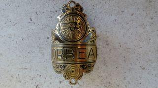 1930 Chapa Orbea de bici de varillas antigua