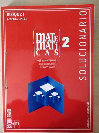 Solucionario Matemáticas 2º Bachillerato