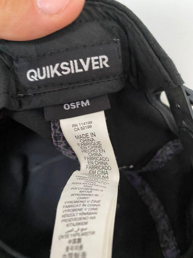Gorra Quicksilver   Ajustable   Poco uso
