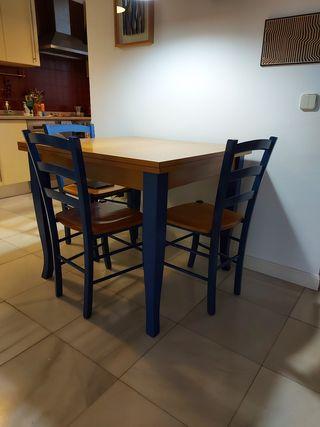 mesa cocina y 4 sillas segunda mano