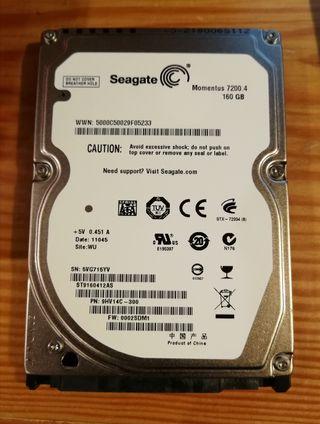 """Disco duro 2.5"""" Seagate 160Gb"""