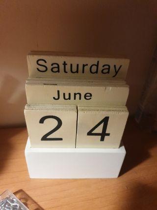 Calendario de Madera