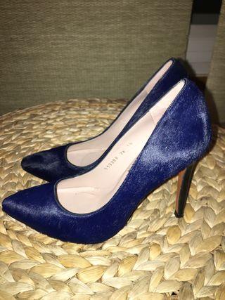 Zapatos estilettos azul marino