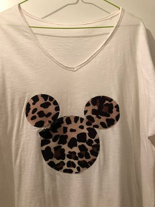 Camiseta manga larga mickey animal print