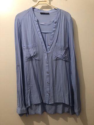 Camisa manga larga celeste