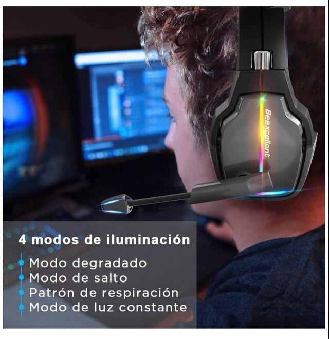 Cascos Gaming Iluminación Led