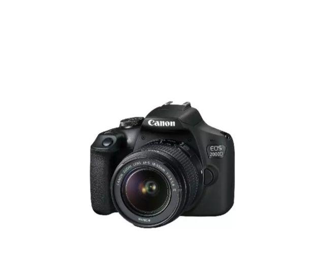 Cámara réflex - Canon EOS 2000D + Objetivo 18-55mm