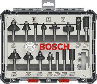 Juego de 15 fresas Bosch para madera NUEVO