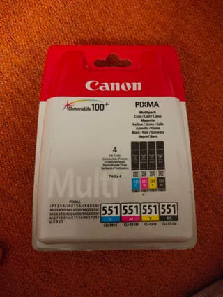Multipack cartuchos tinta canon 551