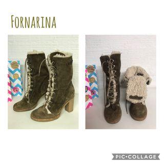 BOTAS FORNARINA PIEL/BORREGUITO T.38 nuevos