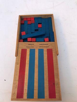 Ábaco Madera antiguo con caja