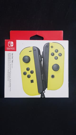 Mandos Nintendo Switch Amarillo. Joy-Con