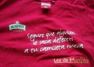 camiseta ley de Murphy