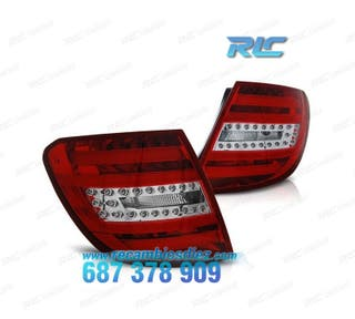 PILOTOS MERCEDES W204 KOMBI LIGHT BAR ROJO/CROMO