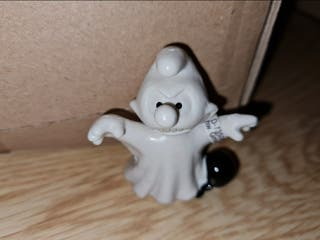 figura pvc duro pitufo fantasma Halloween Schleich