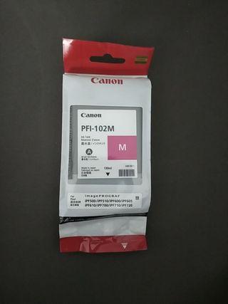 cartucho de tinta canon pfi-102m magenta original