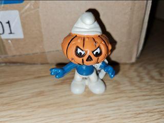 figura pvc duro pitufo calabaza Halloween Schleich