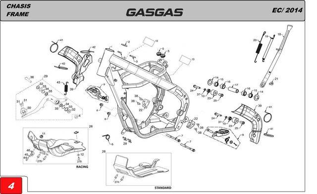 piezas moto gasgas ec 250 2t 2001