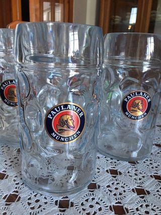 6 Jarras cerveza alemana de litro Cristal