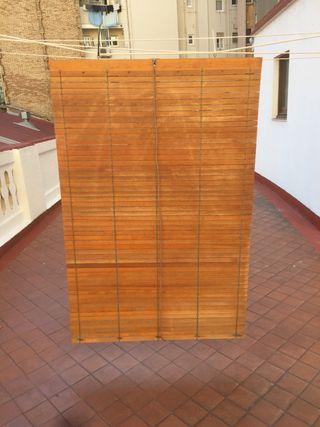 5 Persianas de madera en muy bien estado