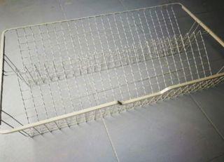 Cesto rejilla riel extraible, 100x58 cm