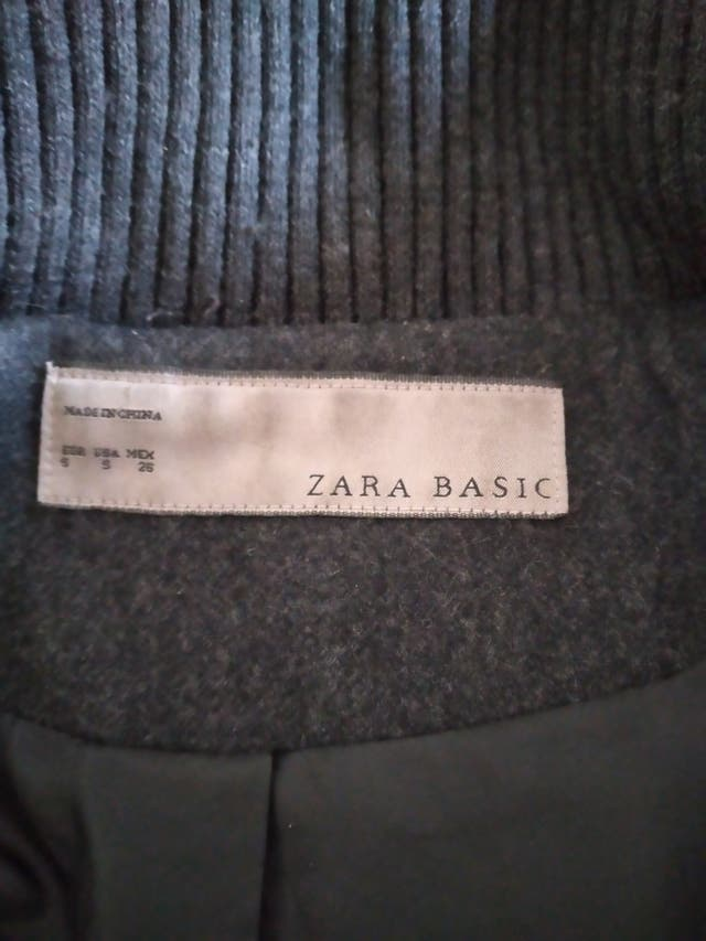 Abric de paño Zara talla s