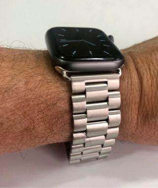 Correa acero plata para Apple Watch 42/44mm
