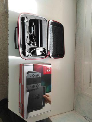 Nintendo switch V1+mando pro+funda grande