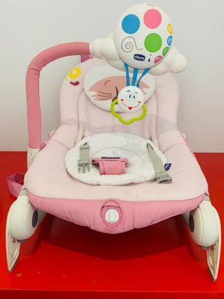 Mecedora de bebé rosa