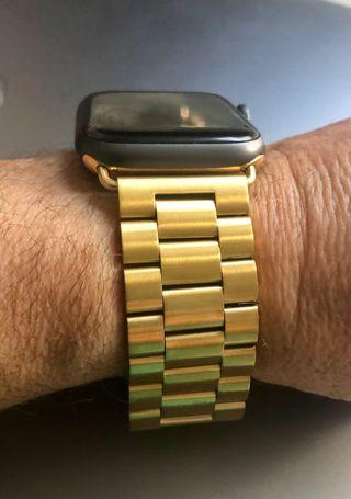 Correa acero dorado para Apple Watch 42/44mm