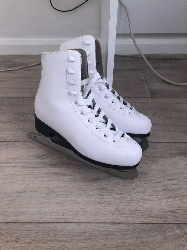 White professional ice skates Used