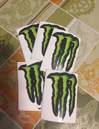 Pegatina de la marca Monster